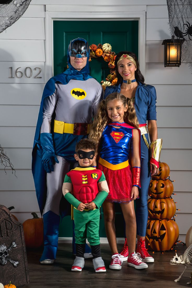 from the original caped crusader to the littlest of teen titans theyll have a super time on halloween with superhero costumes - Trick R Treat Halloween Costume