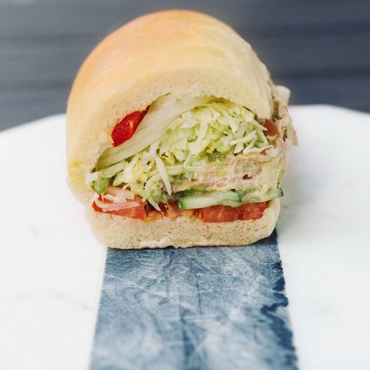 Jimmy John's Modified Monday! Order a #3 Totally Tuna add bacon, avo spread, cheese, extra cucumbers, and Jimmy It Up!