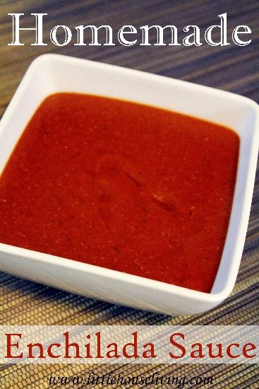 Homemade Enchilada Sauce. Make your own delicious enchilada sauce, so easy and much better flavor than the canned version! #makeyourown