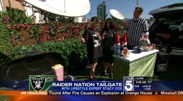"""Want the coolest most tricked out Tail Gate party in the whole football stadium parking lot? My August KTLA Morning News report will get you """"geared"""" up! ;  )"""