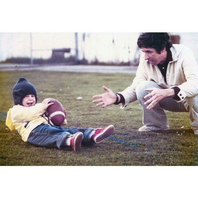 Troy Garity and his dad Tom Hayden