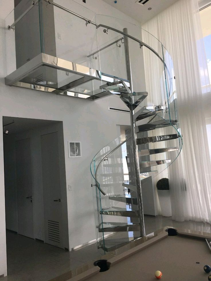 Best Glass Spiral Staircase Glass Staircase Staircase Railing Design Modern Staircase 400 x 300