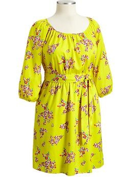 Old Navy: Summer Dresses, Spring Dresses, Yellow Floral, Plus Size, Easter Dresses, Charmeuse Ties Belts, The Dresses, Old Navy, Spring Style