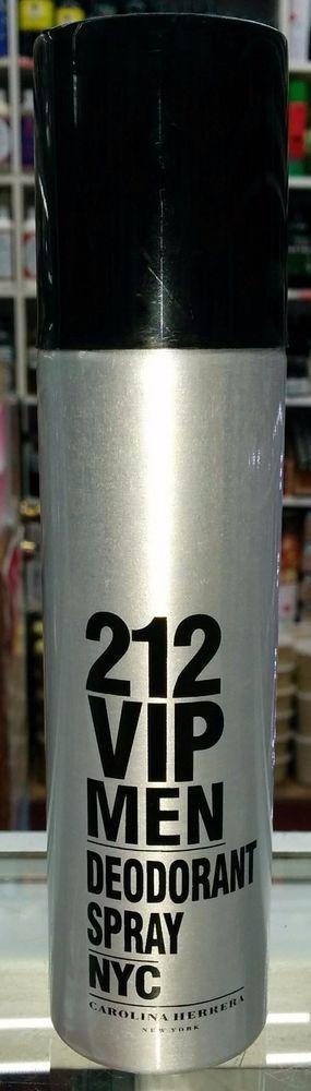 212 VIP MEN Carolina Herrera for Men Deodorant Spray 5.1 oz/150 ml, Brand New #CarolinaHerrera