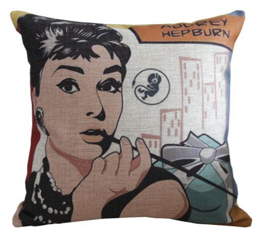 Сushion Audrey Hepburn http://loft-concept.ru/catalog/podushki/ Декоративная подушка Одри Хебберн