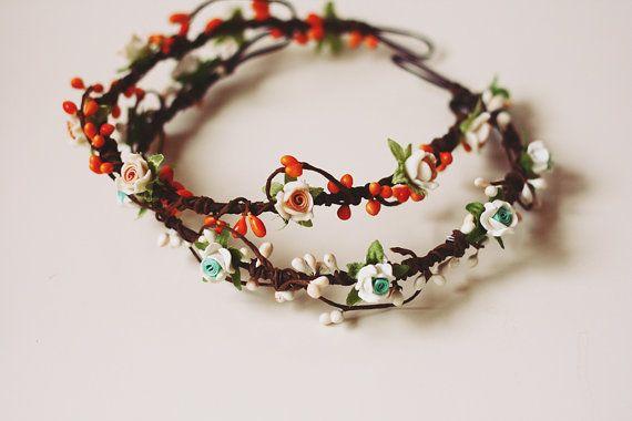 geraldine geraldson wreath  orange // woodland by kisforkani, $35.00