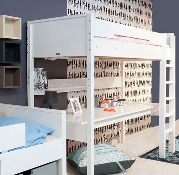 17 meilleures id es propos de lits mezzanine sur. Black Bedroom Furniture Sets. Home Design Ideas