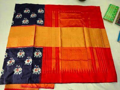 Pure Hand Owen Ikkat Silk sarees   Buy online Sarees   Elegant Fashion Wear