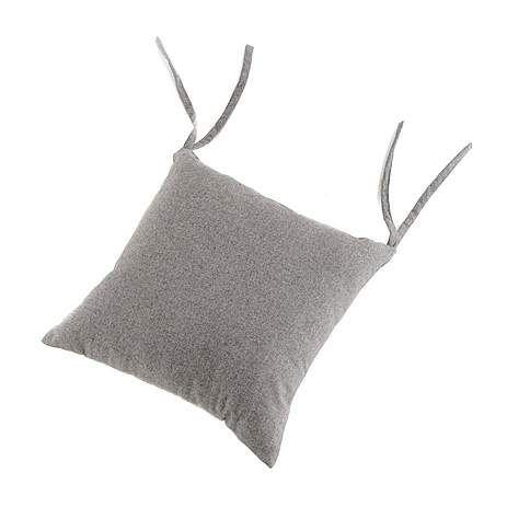 Elements Felt Grey Seat Pad | Dunelm