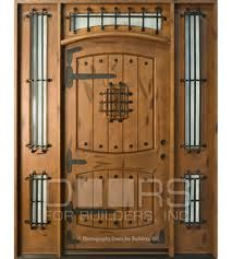 Rustic Knotty Alder Solid Wood Front Entry Door - Single with 2 Sidelites & 24 best Medieval Home Ideas images on Pinterest | Middle ages ...