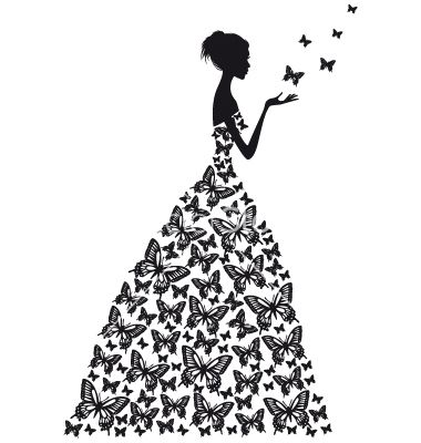 Butterfly+woman+vector+1298444+-+by+amourfou on VectorStock®