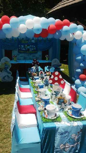 Drake Smurf Party Set Up Drake Smurf Party In 2019 Boy