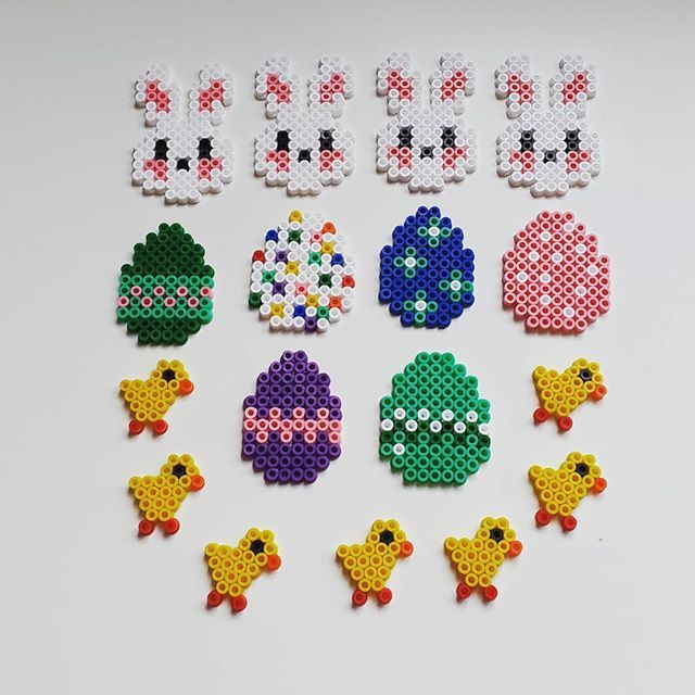 Easter ornaments hama beads by hoenemortil2