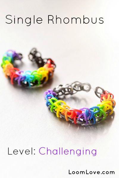 Bat Mitzvah Gifts - http://www.bmmagazine.com/home/bat-mitzvah/bat-mitzvah-gifts - How to Make a Single Rhombus Rainbow Loom Bracelet