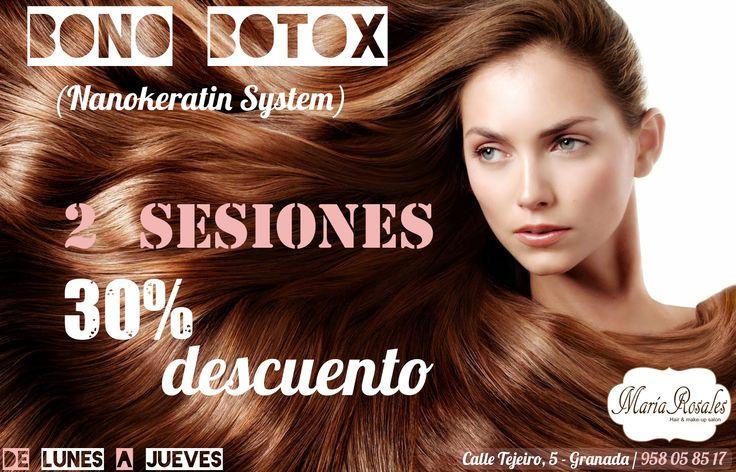 En Octubre os hacemos un BONO de Botox (Nanokeratin System Botox)  Bono Botox = 2 Sesiones Nanokeratin System Botox = 30% de DESCUENTO
