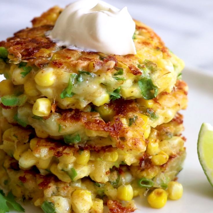 These are SO good!! Cheesy Corn Fritters. These easy to make fritters are loaded…