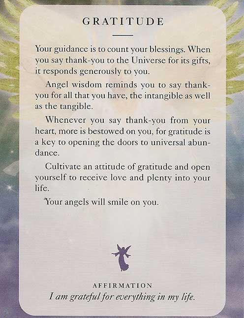 """Gratitude"" – Angel Card – Diana Cooper"