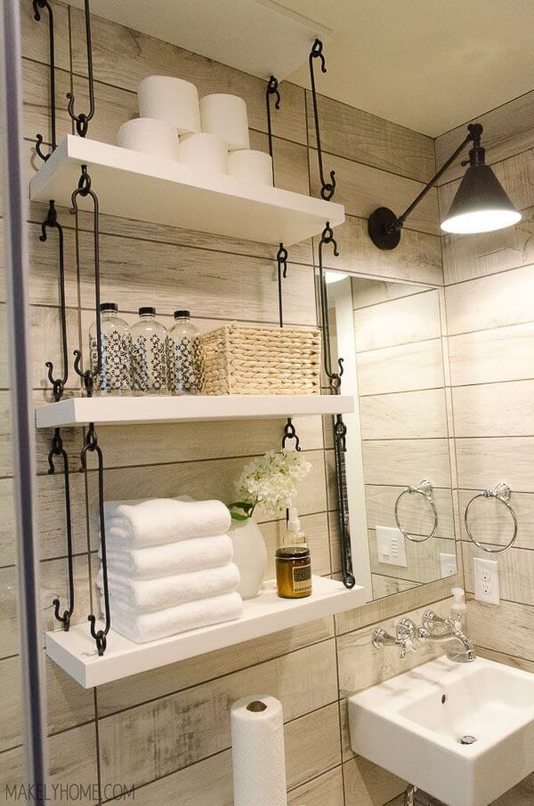 The Most Por New Small Bathroom Shelf Hacks That Ll Help You Get Ready Faster To Liven Up Your For Better A Good Daily Mood