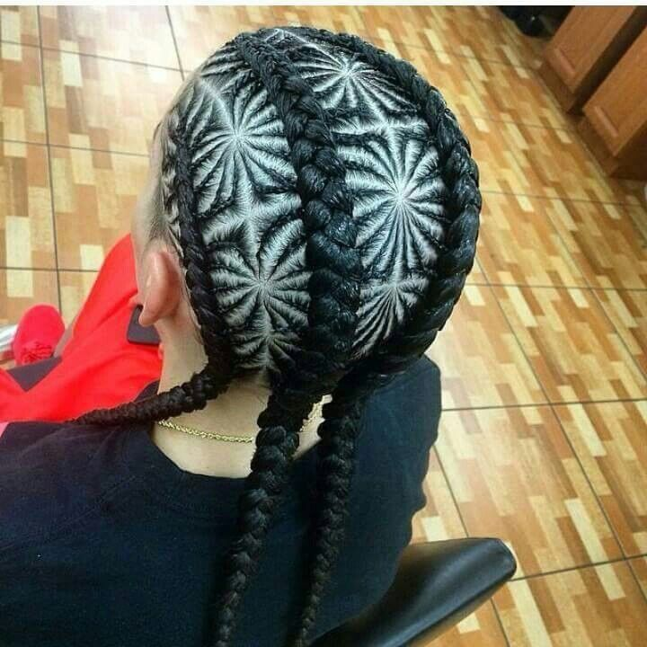 I would never wear this but this braid pattern is so intricate and awesome.  http://www.healthy-life1.eu/black-hair-1/