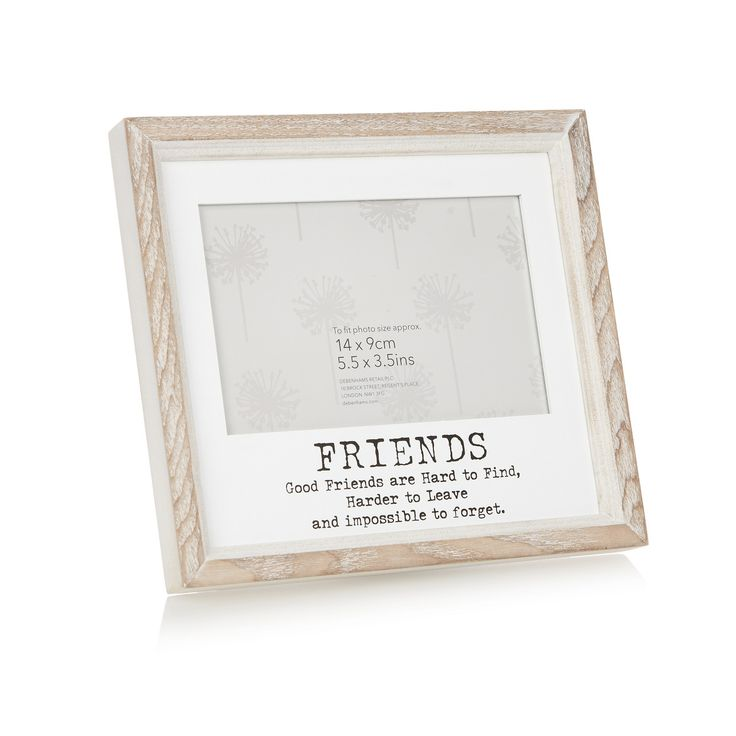 Debenhams Wooden 'Friends' 5.5 x 3.5 inch photo frame- at Debenhams.com