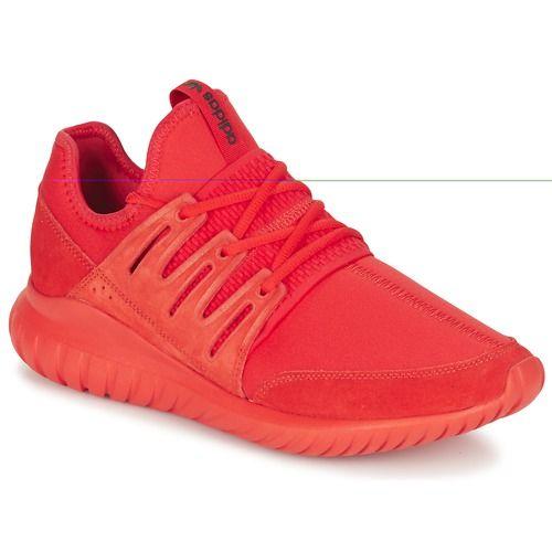 Adidas Originals TUBULAR RADIAL Rouge pas cher prix promo Baskets Femme Spartoo 119.95 €