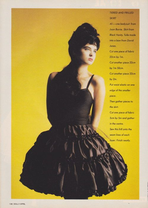 Dolly April 1987 | The Shape Of Skirts To Come (Belinda Riding) 03