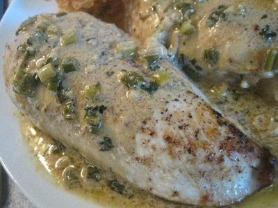 A quick and easy chicken version of steak Diane.