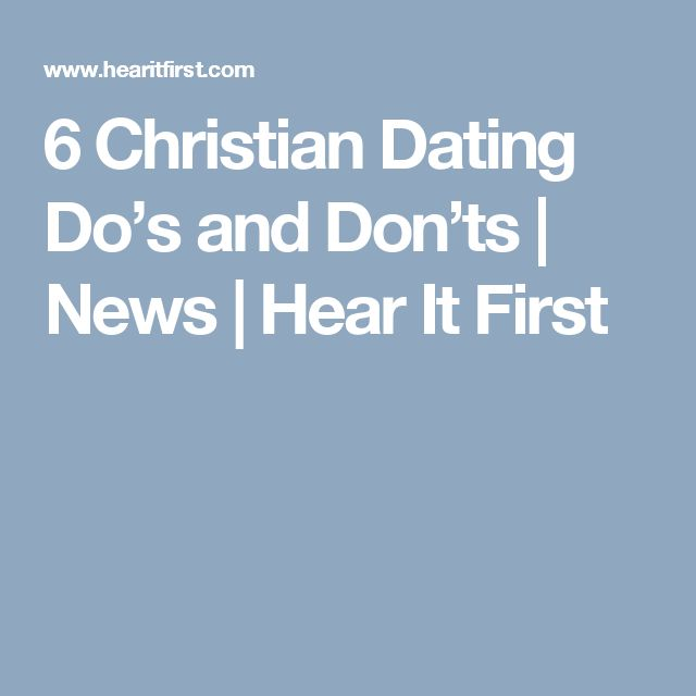 Christian dating when to be exclusive
