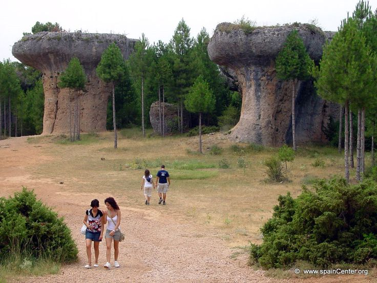 Mushroom Rock formations at Ciudad Encantada ('Enchanted City') - a geological site near the city of Cuenca, in Castile La Mancha, Spain
