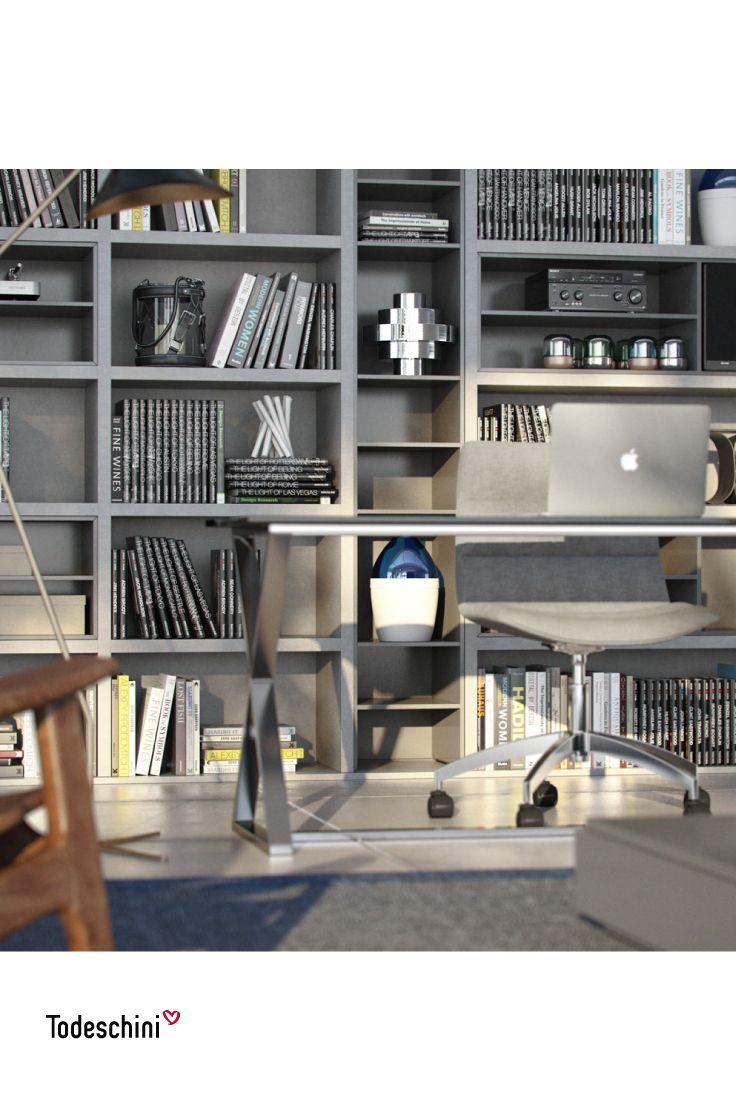 ¿Te gusta trabajar desde casa? Diseñamos oficinas con espacios innovadores, funcionales y modernos, en los que puedes dejar volar tus ideas.  #Diseñodeinteriores #Decoración #Todeschini #ambientes #mueblesamedida #arquitectura #homeoffice