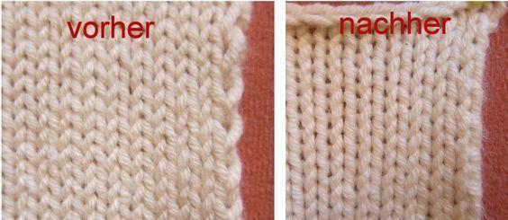Die verflixte zweite Masche - ein Tipp für gleichmäßigere Ränder von tichiro