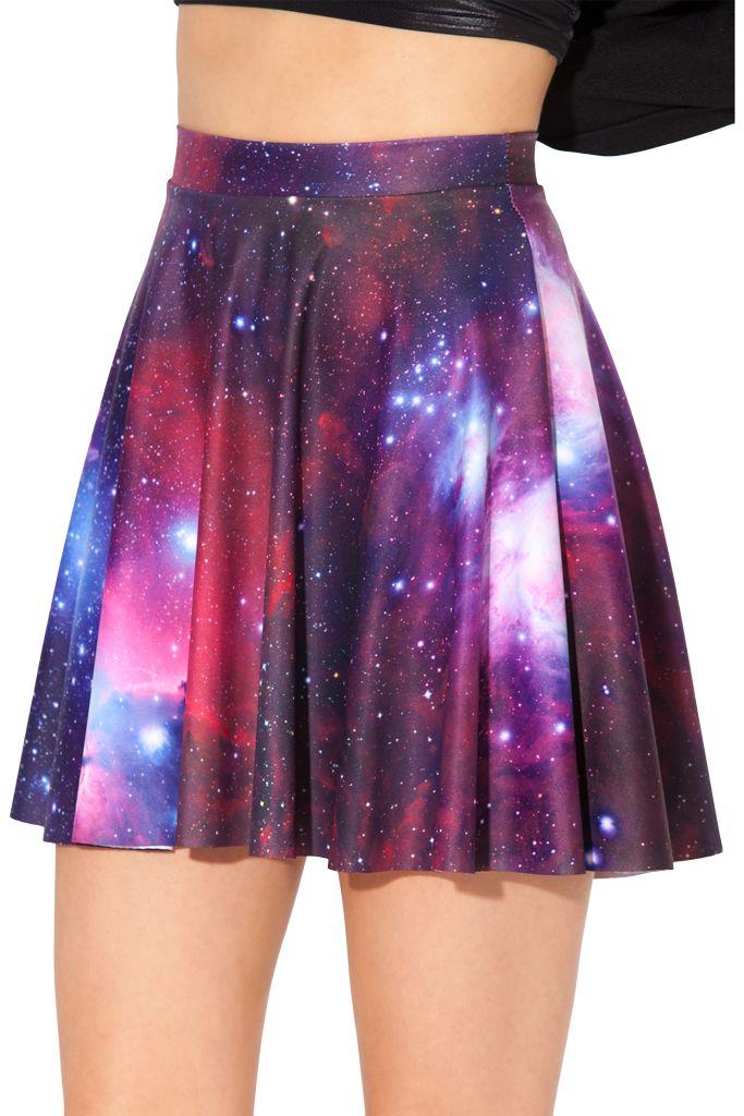 Galaxy Purple Skater Skirt › Black Milk Clothing