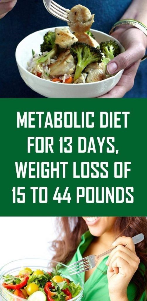 METABOLIC DIET LASTS 13 DAYS, YOU WILL LOSE 15 TO …