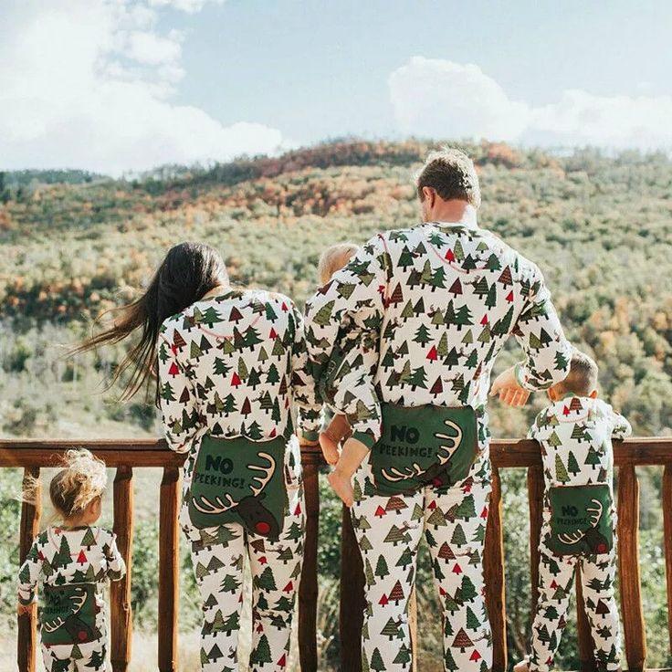 NEW THIS SEASON - NO PEEKING - Family Matching Christmas Pj's