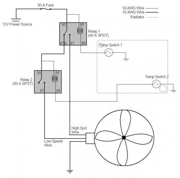 car electric fan wiring diagram  electric fan electricity