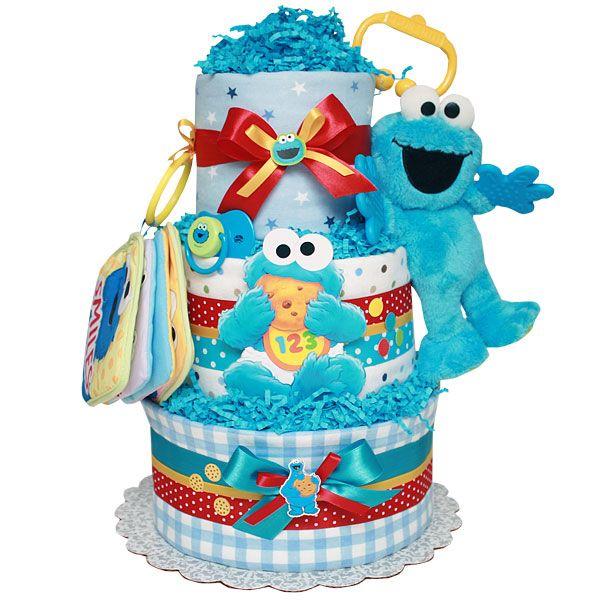 baby cookie monster diaper cake baby shower ideas pinter