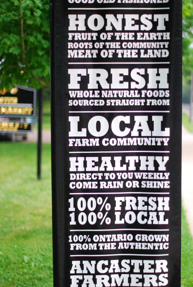 Ancaster Farmers Market held every Wednesday throughout Summer until early Fall from 3pm until 7pm. A must visit for a wonderful variety of fresh, organic produce grown locally.