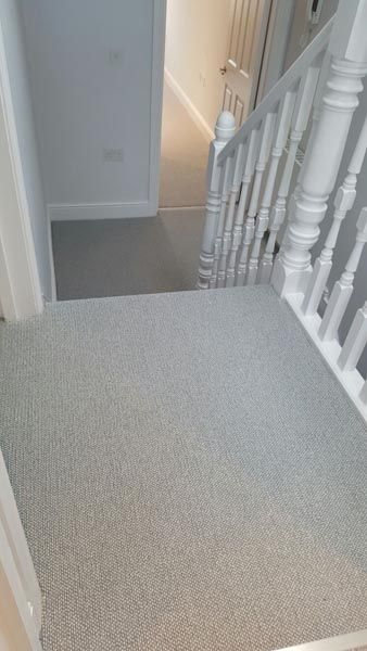 Client: Private Residence In South London Brief: To supply & install grey wool carpet to stairs
