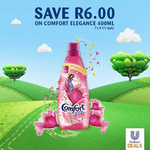 Save up to R6 on any Comfort 400ml variant! Select the deal, sign up & get your coupon code today > http://goo.gl/wxr5b0
