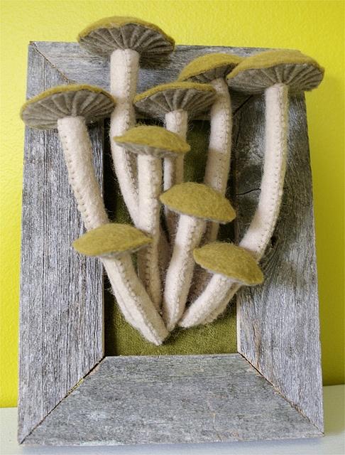 Felted mushroom
