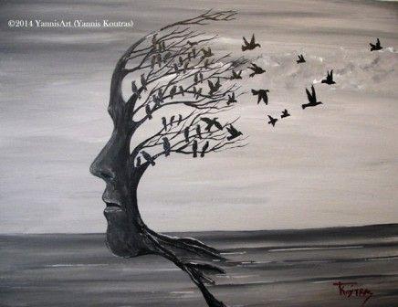 Tree face – Acrylic on Canvas http://yannisart.webnode.com/