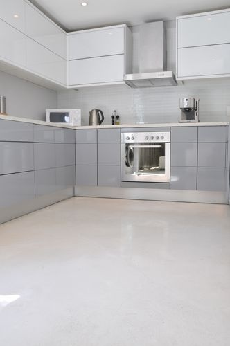 Floor White Cupboards For The Home Pinterest Concrete Floors Polished And Flooring
