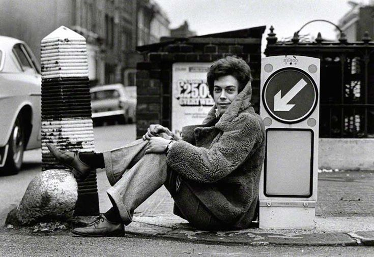 Tim Curry on the streets of London, 1969.