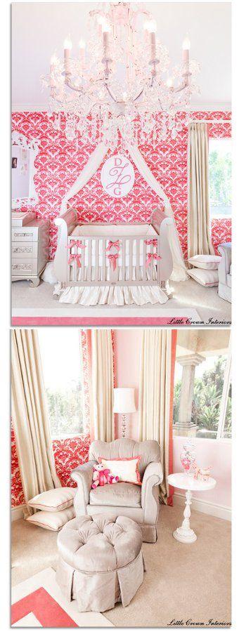 pink damask nursery