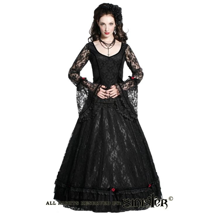 Lace and satin gothic medieval skirt by Sinister (Skirt 735 & Top 736) www.sinister.nl