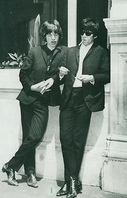 theswinginsixties:    Mick Jagger and Keith Richards