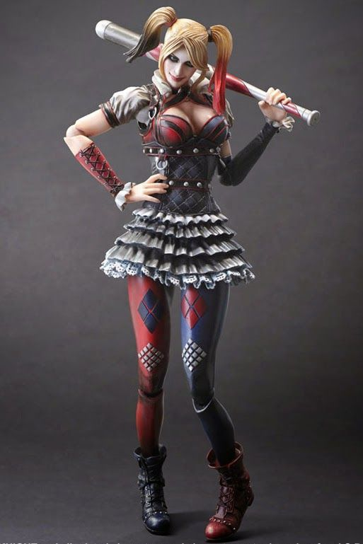 toyhaven: Square Enix Play Arts Kai Batman: Arkham Knight 1/7 Harley Quinn Action Figure Revealed