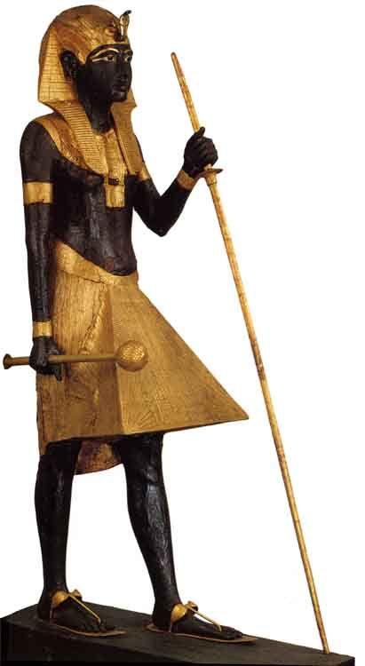 Tutankhamun's Ka statue,  Egyptian Museum, Cairo, Egypt