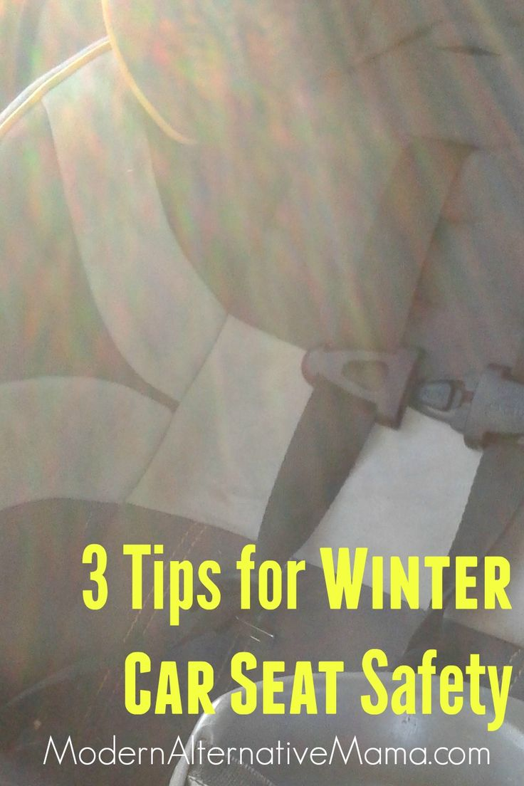 3 Tips for Winter Car Seat Safety | Keeping your kids warm and safe during the cooler months. | Modern Alternative Mama