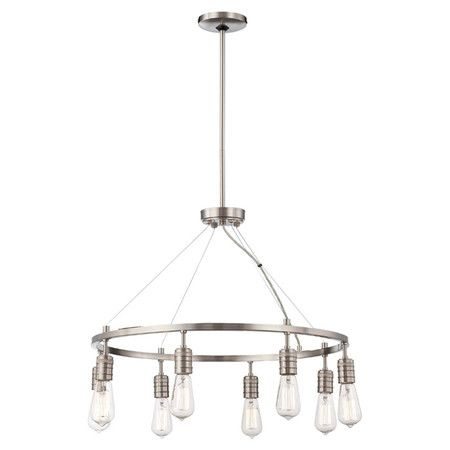 Modern And Eye Catching, This 8 Light Chandelier Illuminates Your Family  Game Nights Design